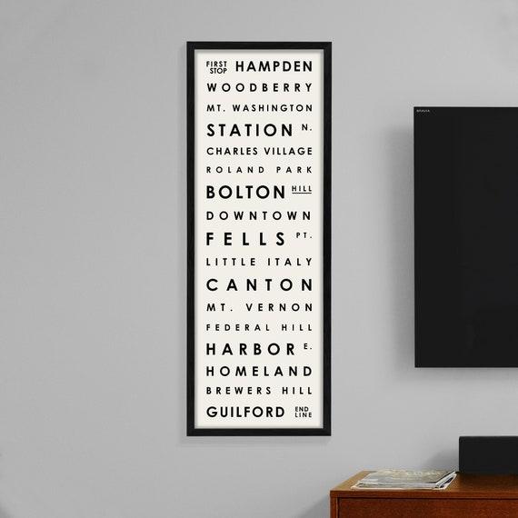 Typography Print Baltimore Maryland Neighborhoods