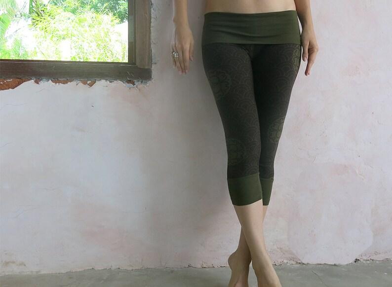 b727a83215 Womens Yoga Leggings 'Kimono Print Leggings' Army | Etsy