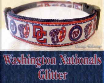 Washington Nationals Baseball MLB Novelty Dog Collar