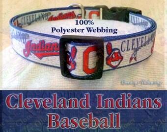 Cleveland Indians Baseball MLB Novelty Dog Collar