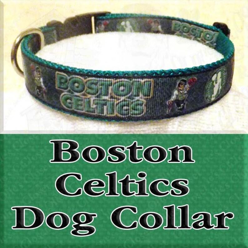 d54ab20e Boston Celtics NBA Basketball Designer Novelty Dog Collar   Etsy