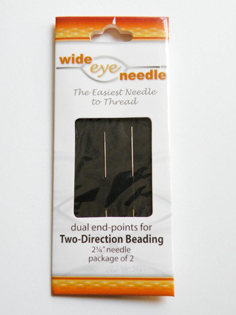 Wide Eye Needle #12 2.25 inches Big Eye Flexible beading needle nickel-plated carbon steel pack of 2 2615BS
