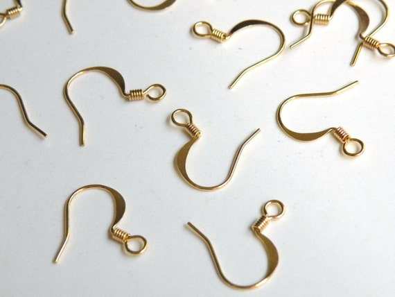 50pcs 25 pairs fish hook earring wires earwires good quality brass plated 17mm