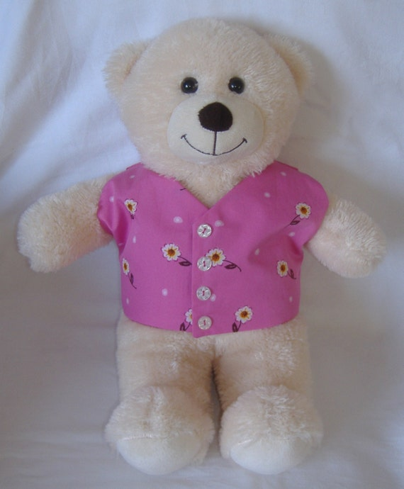 Build a Bear Purple Top with Purple//Pink//White Flowers