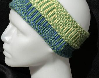 Nordic Knit Headband ~ Tricolour headband ~ winter accessory ~ winter headband ~ gift for her
