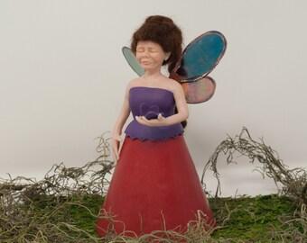 Woodland Fairy Decor ~ Fairy Godmother ~ Forest Fairy ~ Fantasy Figurine Decor ~ Hand sculpted
