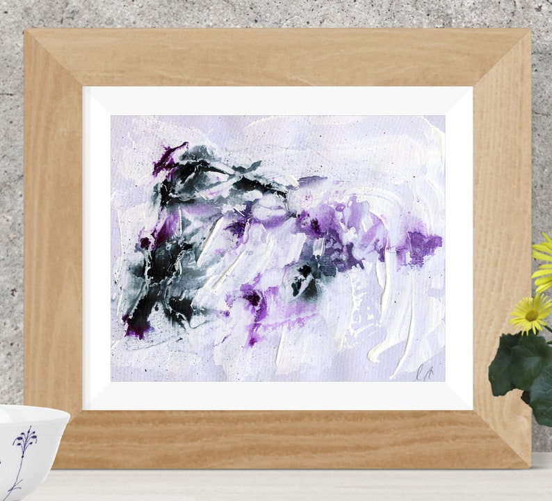 Purple and black abstract painting  Print  Printable image 0