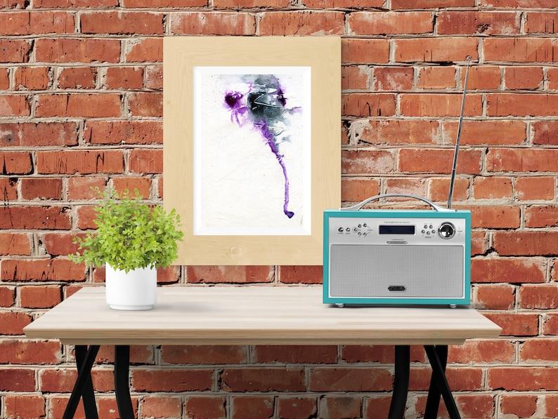 Elephant abstract painting  Wall art  Print  Printable image 0