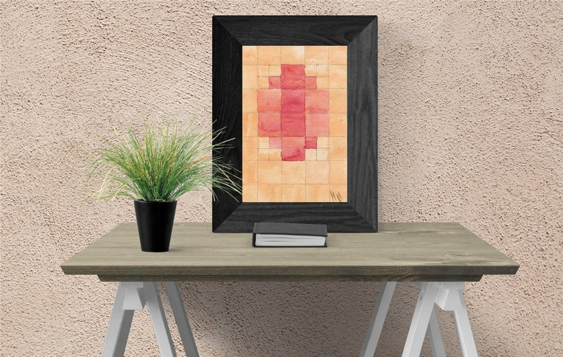 Nipple mosaic watercolor painting  Printable image 0