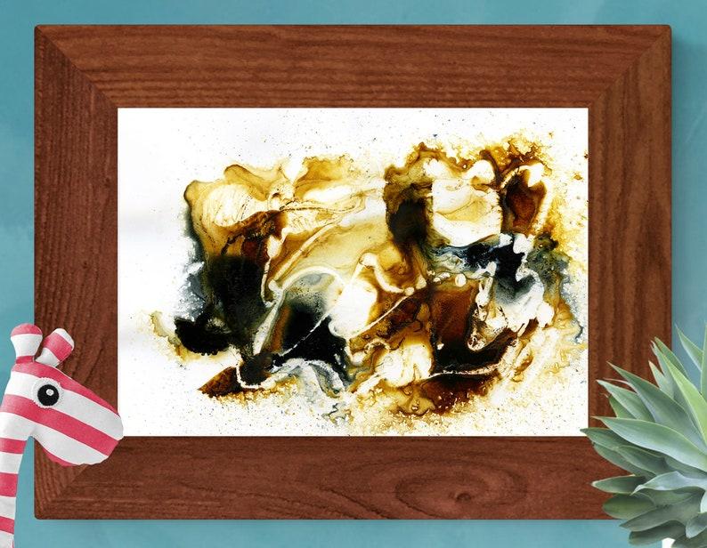 Black and brown abstract wall art  Print  Printable image 0