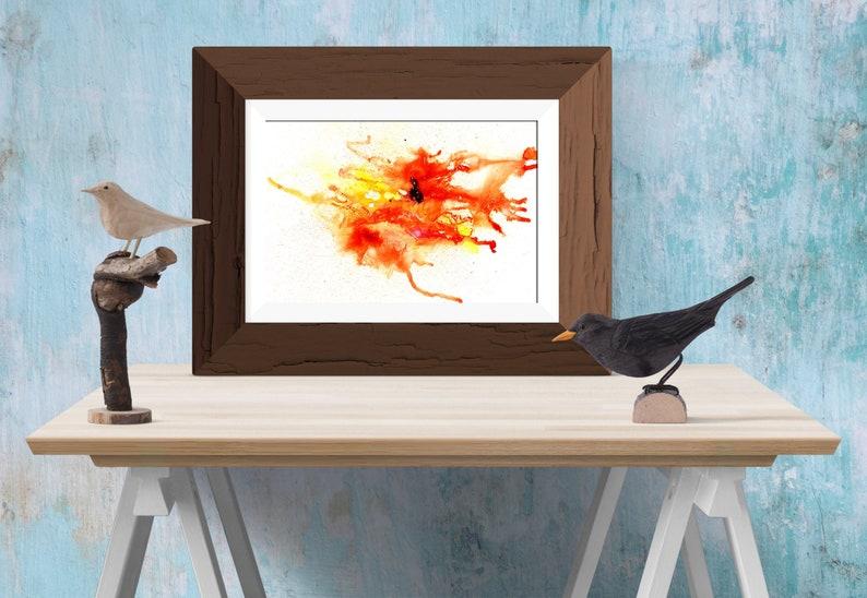 Abstract wall art print  Orange Red  Print  Printable image 0