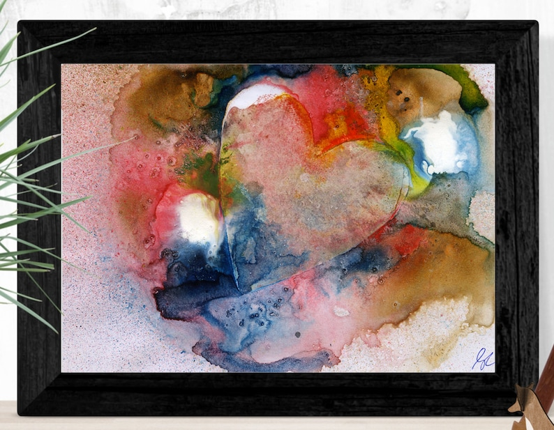 Heart Painting Abstract Art Printable wall art original image 0