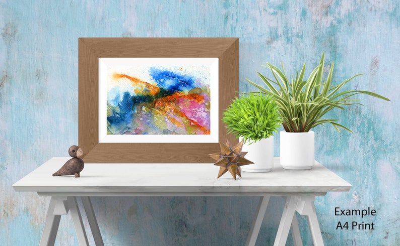 Abstract seascape painting  Wall art image 0