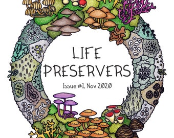 Life Preservers #1 - A5 colour zine on finding beauty in nature and mental health - lichen, moss, fungi, full color zines