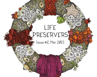 Life Preservers #2 - A5 colour zine on finding beauty in nature and mental health - seashore, rock-pools, tide-pools, full color zines