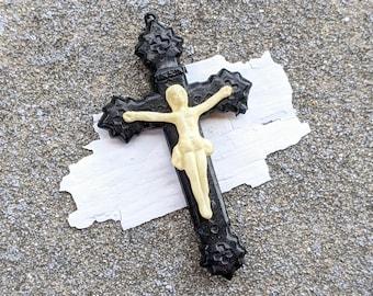Antique celluloid crucifix