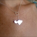 Maui Necklace, Maui Through My Heart, Hawaiian Island Lariat Necklace handmade in Maui by Sparrow Seas