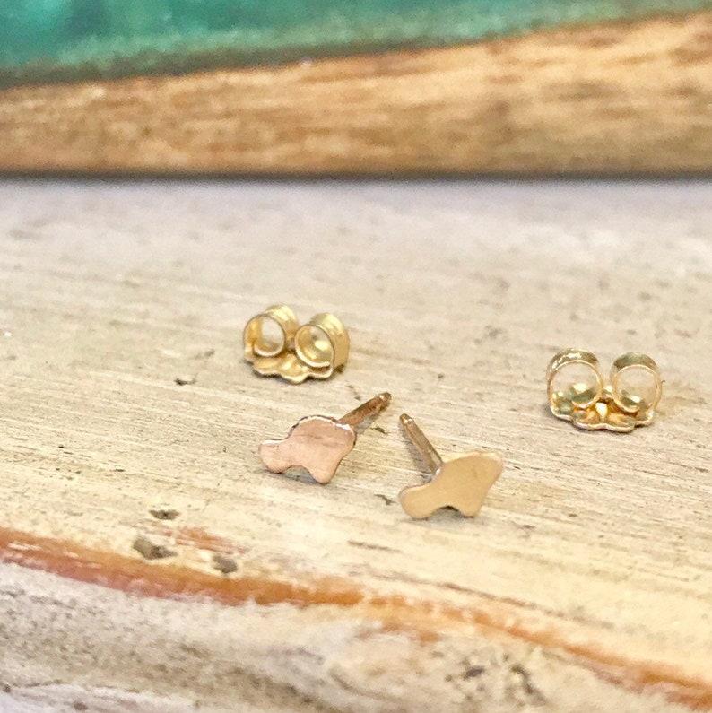 Maui Mini Stud Earrings14K gf or Sterling made in Maui image 0