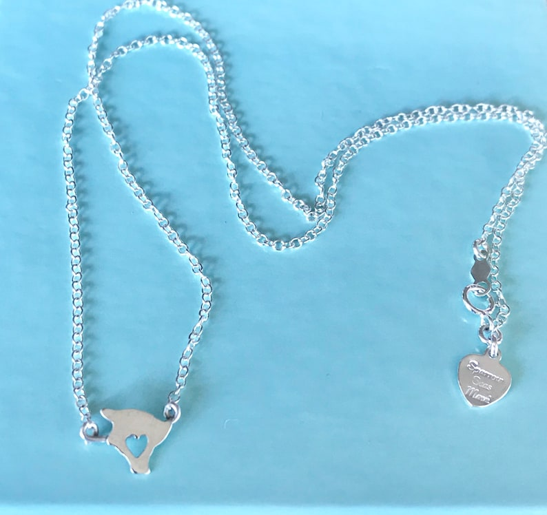 Heart in Hawaii Dainty SS or 14 K gf Necklace image 0