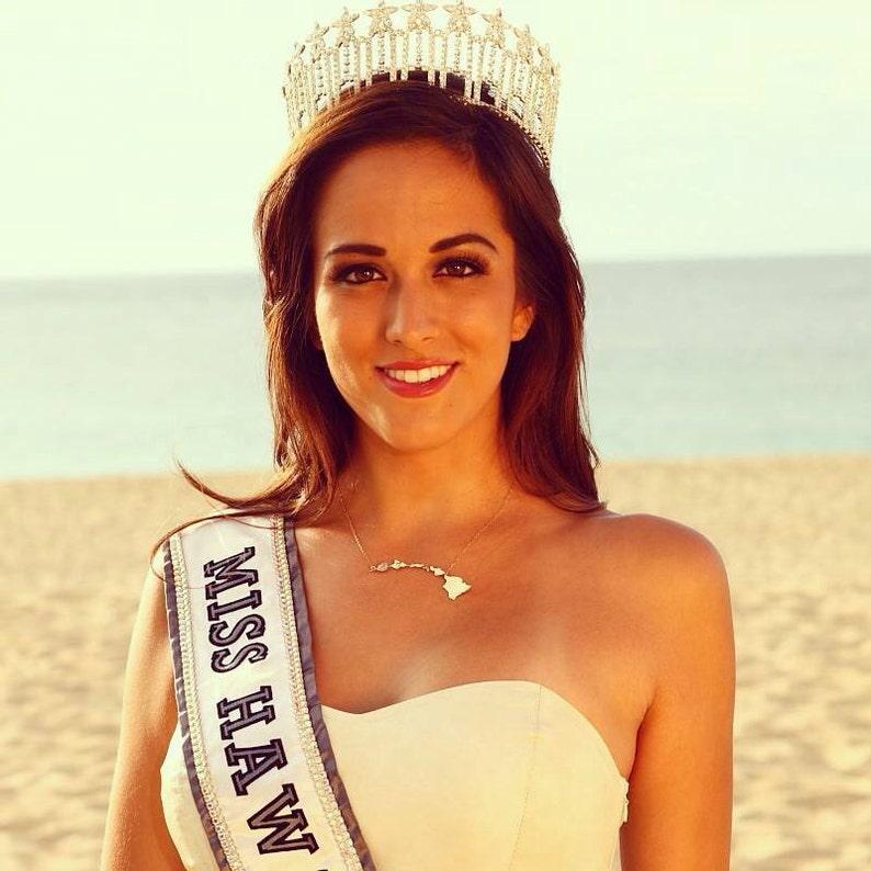 Miss Hawaii USA Hawaiian Islands State Necklace image 0