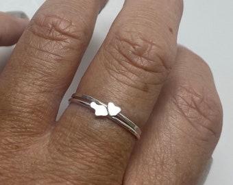 Mini Heart Maui Ring Set