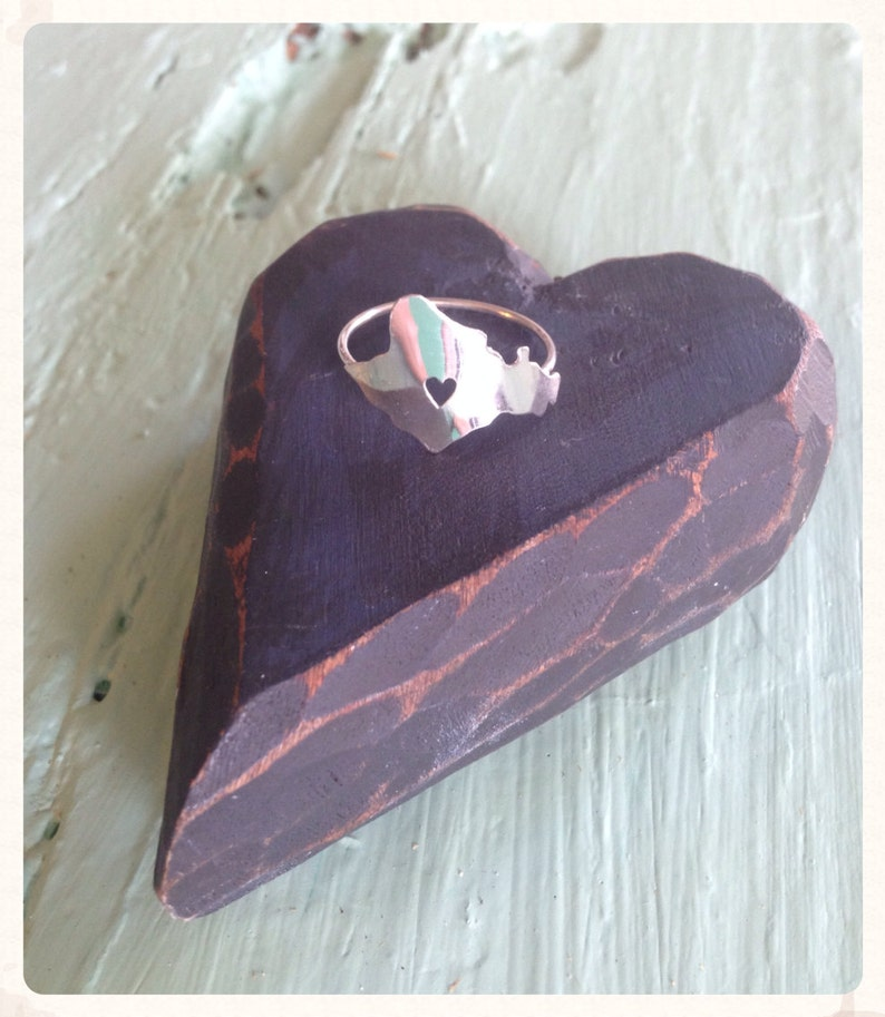 Oahu Ring Heart in Oahu Sterling Silver Island Ring by image 0