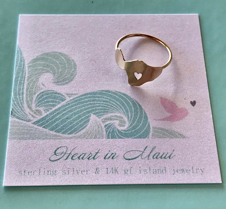 Heart in Maui Island Ring image 0