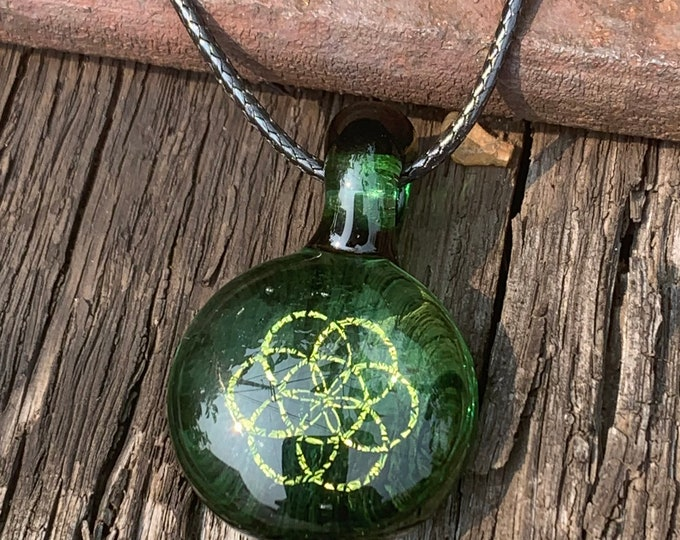 Seed of Life Dichroic Pendant