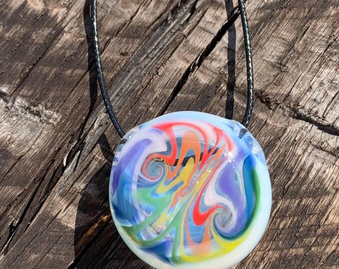 Ghost rainbow wig wag hollow pendant