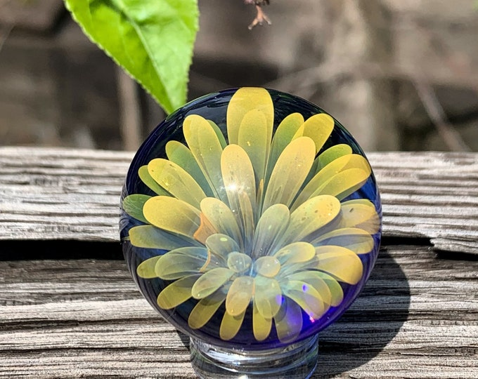 Gold and silver fume implosion marble