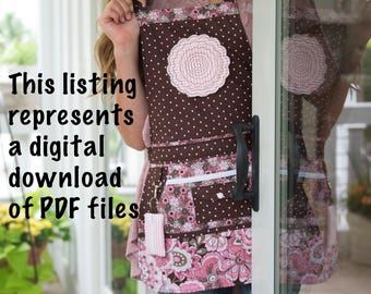 Apron Pattern PDF - Women's Full and Half -  Apron Pattern - Vendor Apron - Apron Sewing Pattern - Sewing Pattern - PDF Pattern - MollyMade