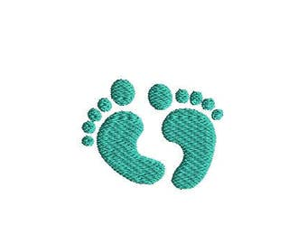 Mini Baby Feet Machine Embroidery Design-INSTANT DOWNLOAD