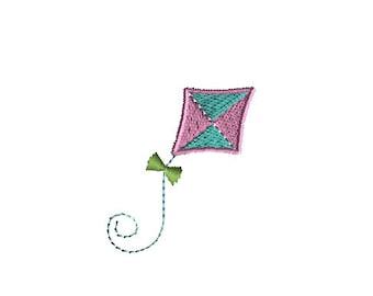 Mini Kite Machine Embroidery Design-INSTANT DOWNLOAD