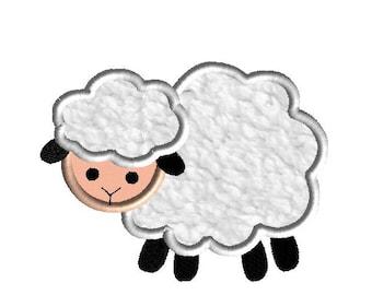 Lamb 2 Applique Machine Embroidery Design-INSTANT DOWNLOAD