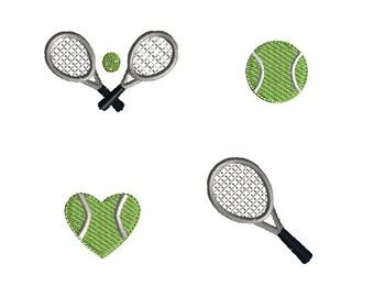 Mini Tennis Machine Embroidery Design Set-INSTANT DOWNLOAD cd31772f3a43c