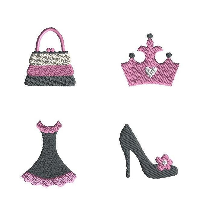Diva Design: Mini Diva Machine Embroidery Design Set-INSTANT DOWNLOAD