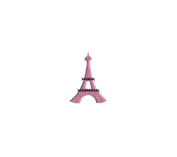 Mini Eiffel Tower Embroidery Design For Machine Etsy