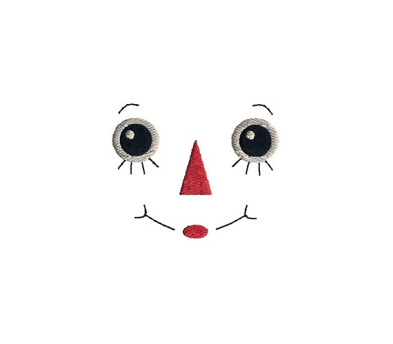 Raggedy Doll Face Machine Embroidery Design Instant Download Etsy