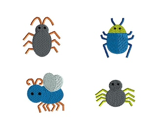Mini Bug Machine Embroidery Design Set-INSTANT DOWNLOAD