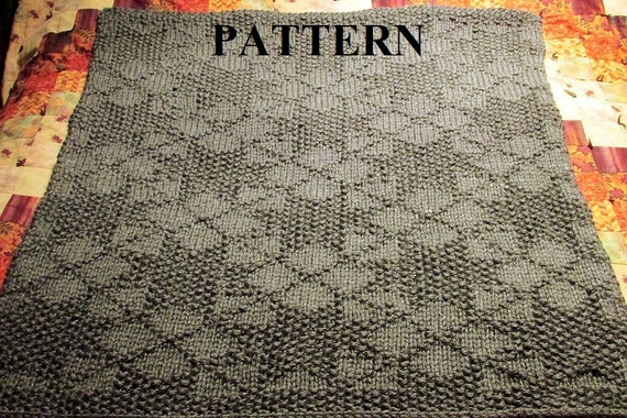 Knitting Pattern Baby Blanket Knit Baby Blanket Pattern Etsy