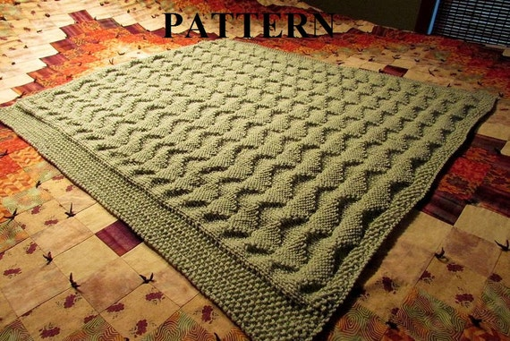 Knit Baby Blanket Pattern Knitting Pattern Worsted Weight Knit