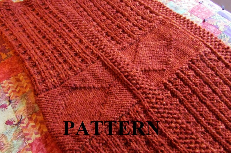 Knit Baby Blanket Pattern Knitting Pattern Chunky Yarn | Etsy