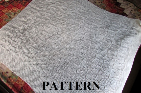 Knit Baby Blanket Pattern Baby Blanket Pattern Knitting Etsy Mesmerizing Baby Blanket Patterns Knitting