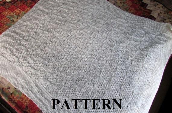 Knit Baby Blanket Pattern Baby Blanket Pattern Knitting Etsy