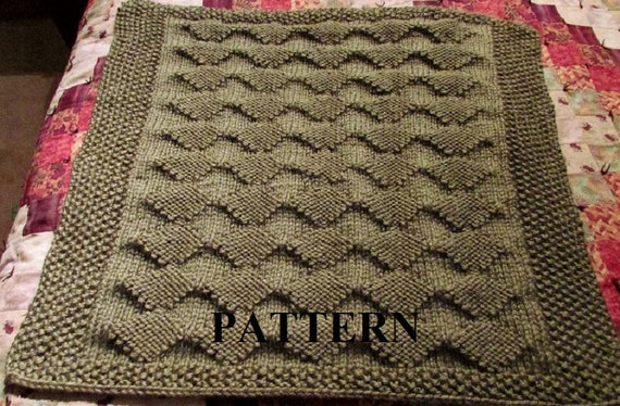 Knit Baby Blanket Pattern PDF Knitting Pattern Diamond Etsy Best Diamond Knitting Pattern