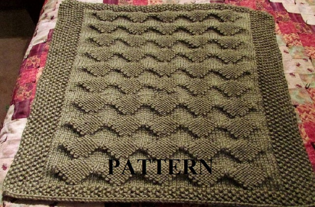 Knit Baby Blanket Pattern Pdf Knitting Pattern Diamond Etsy