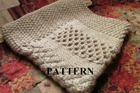 Knitting Pattern Blanket Knitting Pattern Honeycomb Basket Weave