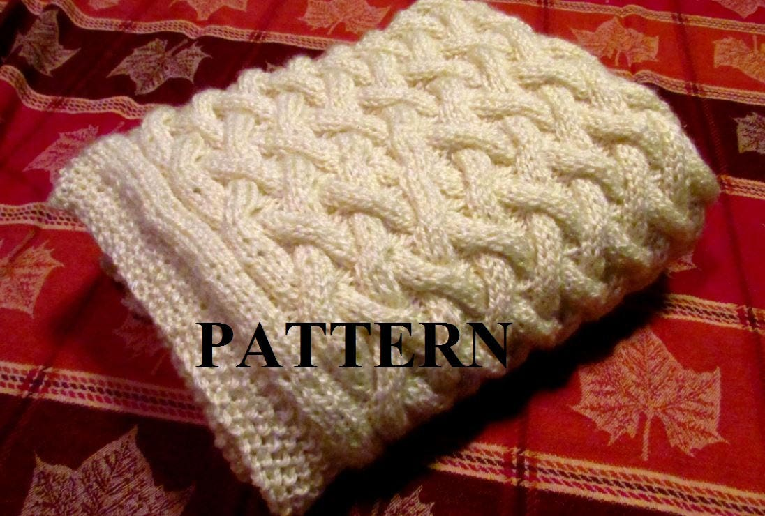 Knitting Pattern Blanket, Knitting Pattern, Basket Weave, Chunky ...