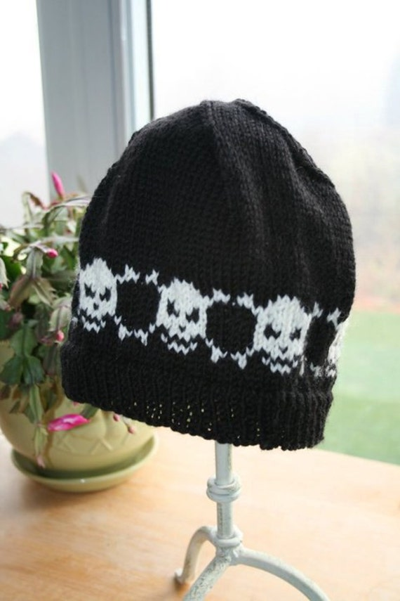 Skull and Crossbones Beanie Skull and Crossbones Hat Skull  786e4d60f6b