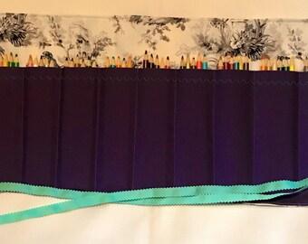 Toile Purple Colored Pencil/Marker Roll